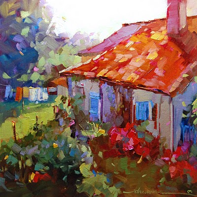 """""""A World of Color in France SOLD"""" original fine art by Dreama Tolle Perry"""