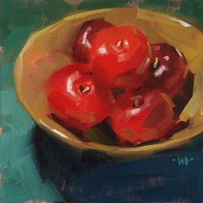 """Plum Full"" original fine art by Carol Marine"