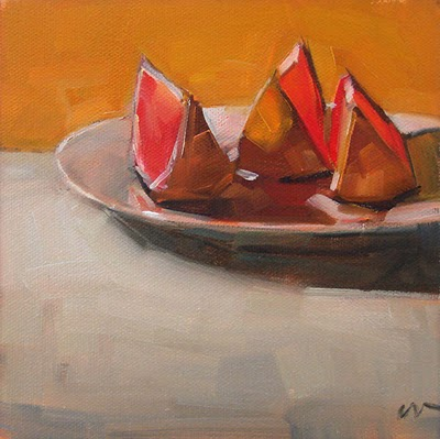 """Sun Bathers --- SOLD"" original fine art by Carol Marine"