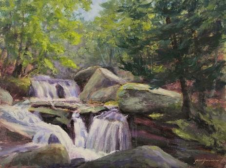 """Platte Clove Cascade and Olana Workshop"" original fine art by Jamie Williams Grossman"