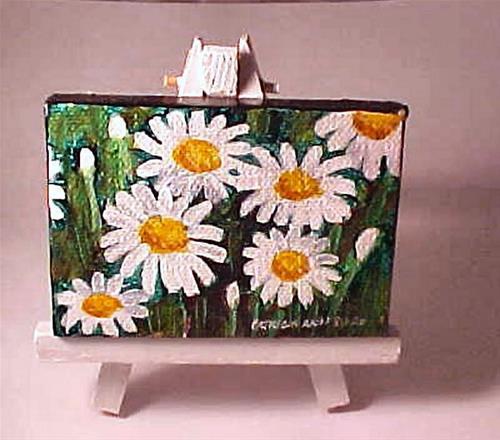 """""""Mini Daisies"""" original fine art by Patricia Ann Rizzo"""