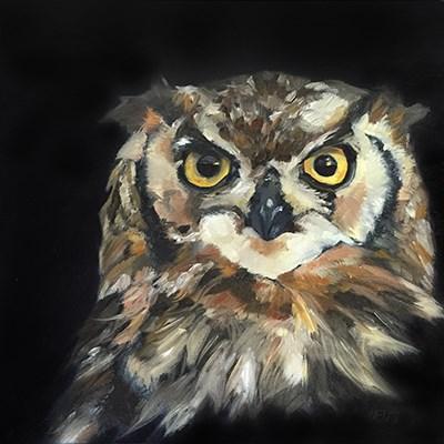 """""""Spotted Owl"""" original fine art by Elizabeth Dawn Johnston"""