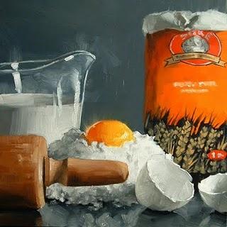"""Bakery Prep"" original fine art by Michael Naples"