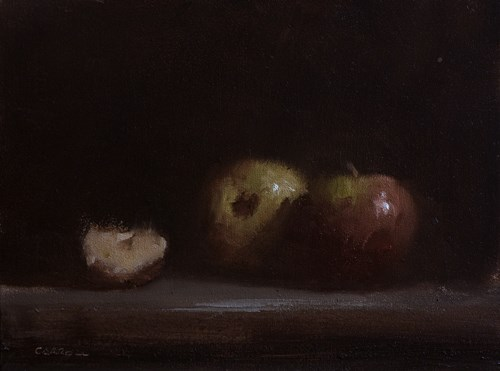 """Slice of Apples"" original fine art by Neil Carroll"