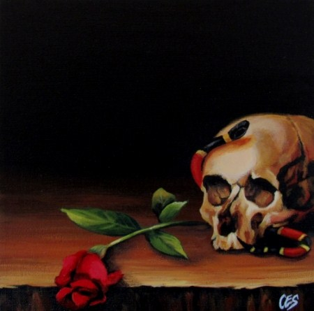 """""""Dying For Beauty"""" original fine art by ~ces~ Christine E. S. Code"""