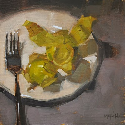 """Take Off Tomatillo"" original fine art by Carol Marine"