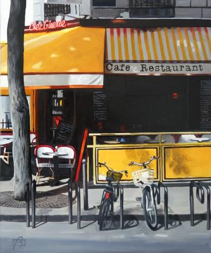 """Chez Ginette"" original fine art by Andre Beaulieu"