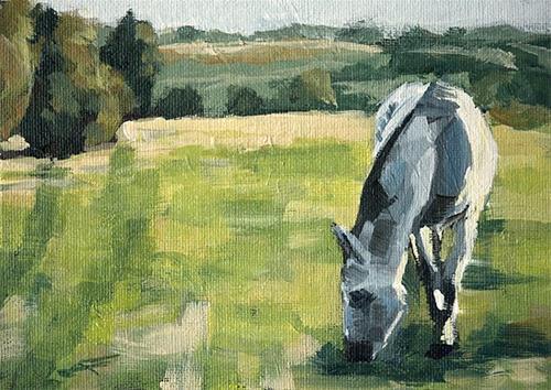 """""""Grey Horse"""" original fine art by J. Farnsworth"""