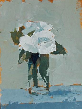 """White Floral XX"" original fine art by Pamela Munger"