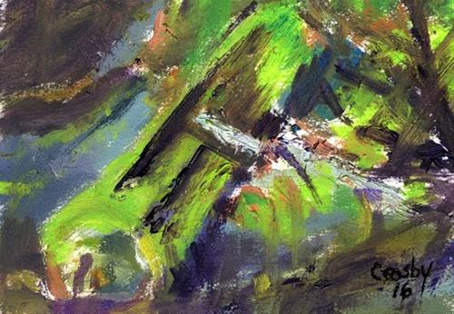 """""""Moss Covered"""" original fine art by Donna Crosby"""