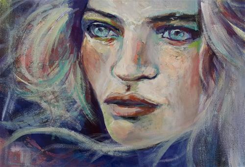 """Funky lady"" original fine art by Rentia Coetzee"