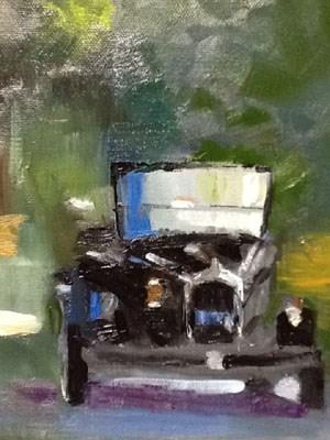 """""""midnight ride"""" original fine art by Peggy Schumm"""