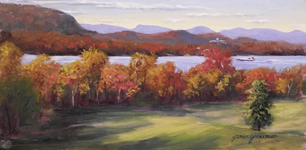 """""""Golden Morning at Vanderbilt"""" original fine art by Jamie Williams Grossman"""