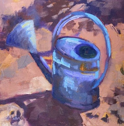 """""""Watering Can"""" original fine art by Pam Holnback"""