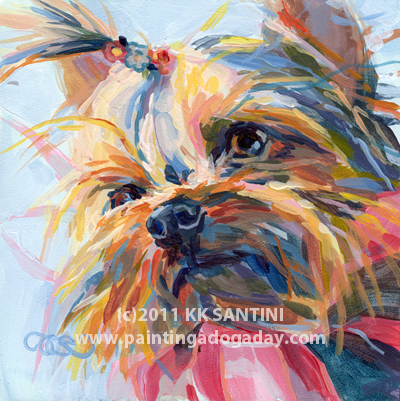 """""""Lucy in the Sky...."""" original fine art by Kimberly Santini"""