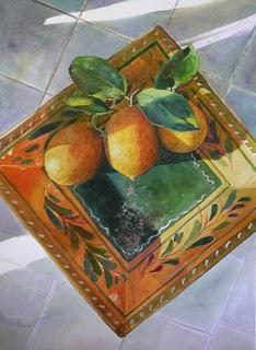 """""""Watercolor: Juggling"""" original fine art by Belinda Del Pesco"""