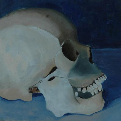 """SKULL No. 2"" original fine art by Linda Popple"