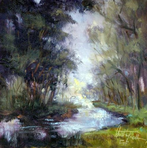"""The  Little Creek"" original fine art by Christa Friedl"