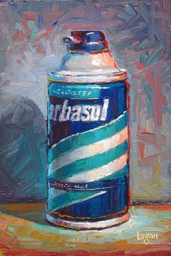 """""""Can O' Barbasol"""" original fine art by Raymond Logan"""