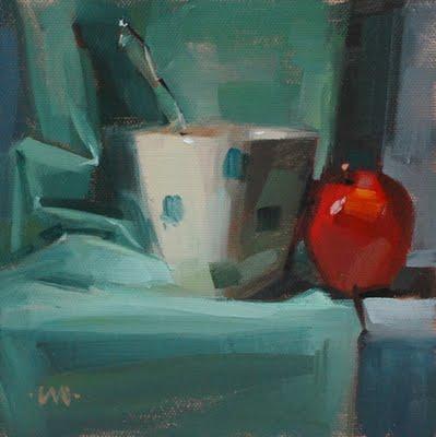 """Cozy Up"" original fine art by Carol Marine"