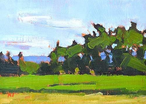 """Farm Near Boise"" original fine art by Kevin Inman"