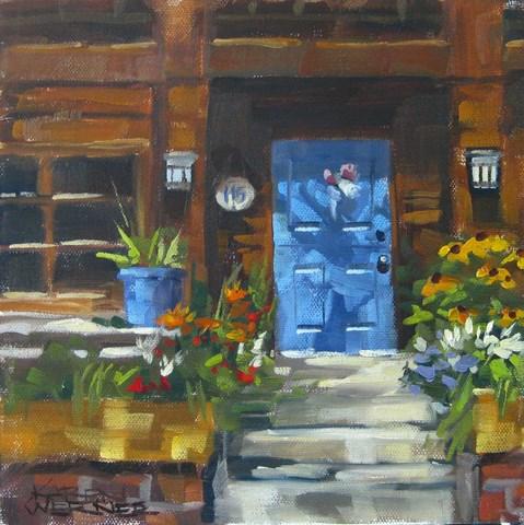 """""""Blue Door Balboa"""" original fine art by Karen Werner"""