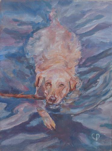 """Play Time"" original fine art by Carol DeMumbrum"