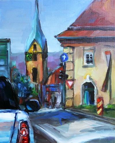 """Hauptstätter Straße, Stuttgart"" original fine art by Jurij Frey"