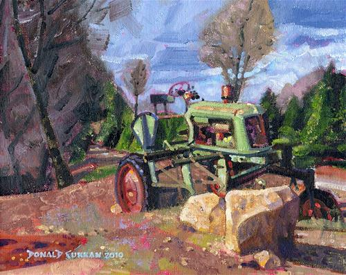 """Retired Tractor"" original fine art by Donald Curran"