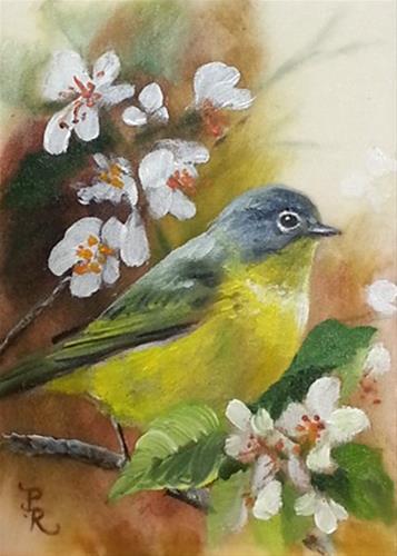 """Sunny Blossoms"" original fine art by Paulie Rollins"