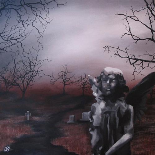 """Cemetery Angel"" original fine art by ~ces~ Christine E. S. Code"