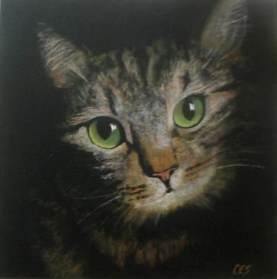 """Smitten Kitten"" original fine art by ~ces~ Christine E. S. Code"
