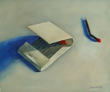"""Red Match No.2"" original fine art by Michael Naples"