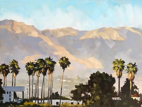 """Santa Barbara Hills"" original fine art by Sharon Schock"