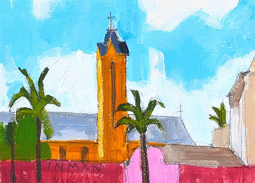 """""""Uptown Laundromat View, San Diego"""" original fine art by Kevin Inman"""