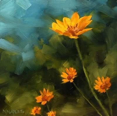 """Wild Flowers No.2"" original fine art by Michael Naples"