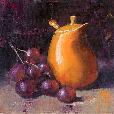 """""""Study in Orange (DP002)"""" original fine art by Nancy Murty"""