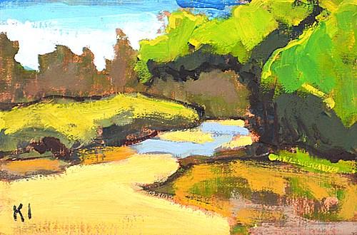 """Wetlands, San Diego"" original fine art by Kevin Inman"