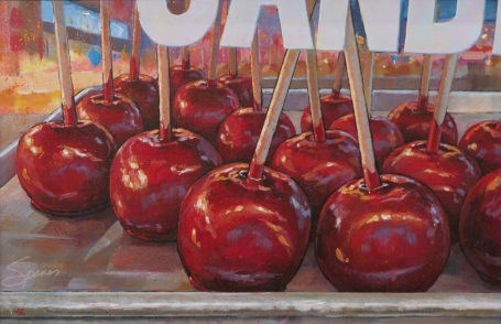 """Carnival Apples"" original fine art by Lesley Spanos"