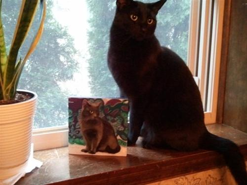"""""""Life imitating art, my collectors are the BEST"""" original fine art by Diane Hoeptner"""