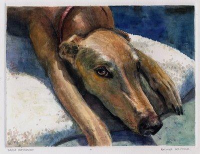 """Monotype: Early Retirement"" original fine art by Belinda Del Pesco"
