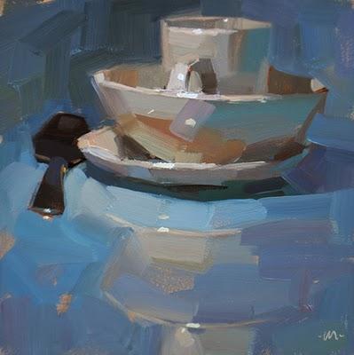 """Suspicious Spoon & Challenge!"" original fine art by Carol Marine"