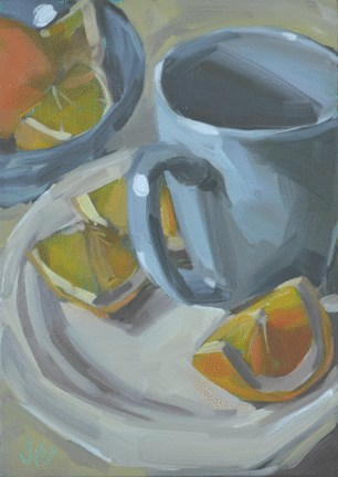 """Evening Oranges"" original fine art by Jessica Green"