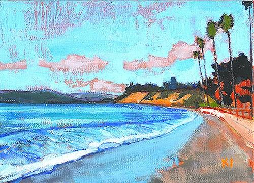 """Butterfly Beach, Santa Barbara Painting"" original fine art by Kevin Inman"