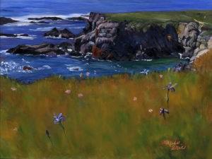 """Iris on the Cliff"" original fine art by Mariko Irie"