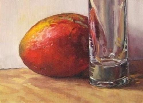 """21 - Mango and Bud Vase"" original fine art by Edward Watson"