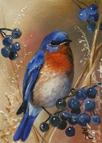 """Berry Blue"" original fine art by Paulie Rollins"