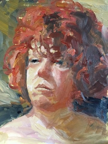"""Portrait of Gina"" original fine art by Libby Gilpatric"