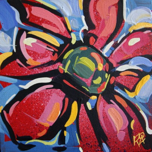 """""""Flower Abstraction 180"""" original fine art by Roger Akesson"""