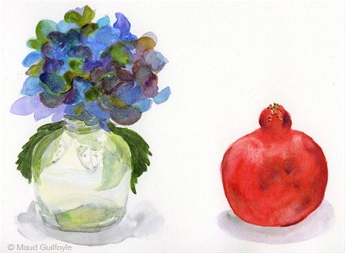 """""""Flowers for art still life set up from Trader Joes"""" original fine art by Maud Guilfoyle"""